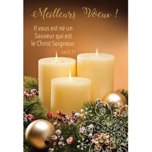 Carte double Noel bougie 0047