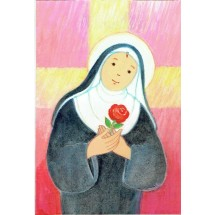 "Carte Simple Maite Roche 0059 ""Sainte Rita"""